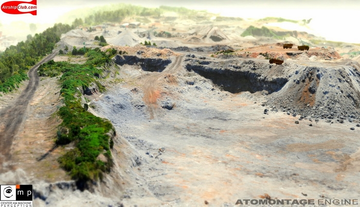Целиком уничтожаемый ландшафт на движке Atomontage