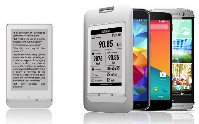 видом смартфон на электронных чернилах поддержите