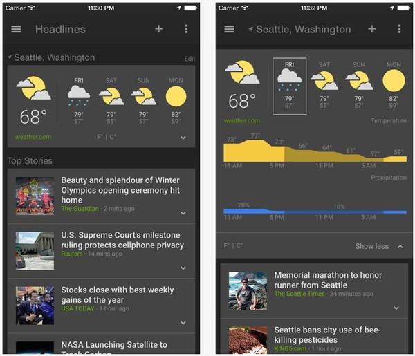Google News & Weather для iOS