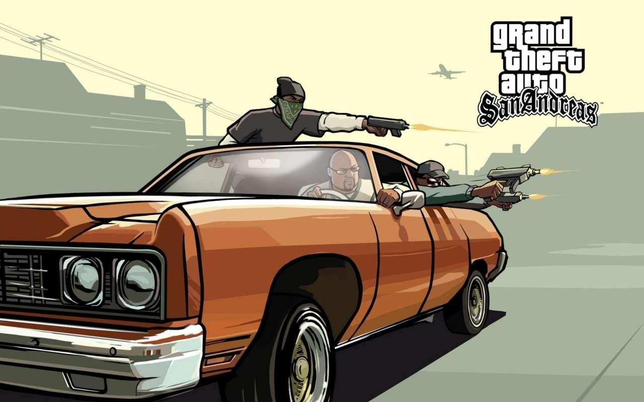 Grand Theft Auto: San Andreas (500mb - Чистая ГТА)