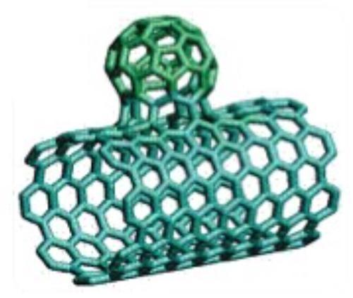 Углеродная нанотрубка с «почкой»-фуллереном (источник Canatu)