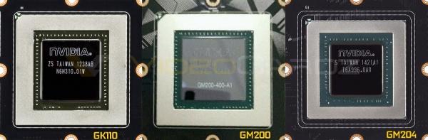 NVIDIA GM200 в сравнении с GM204 и GK110