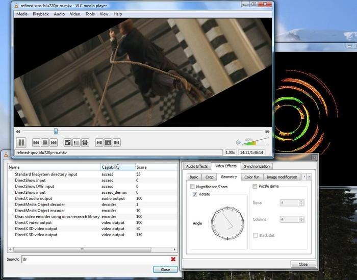 Внешний вид плеера VLC