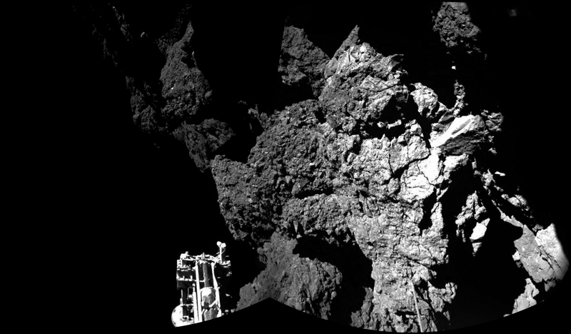 Комета Чурюмова-Герасименко глазами Philae