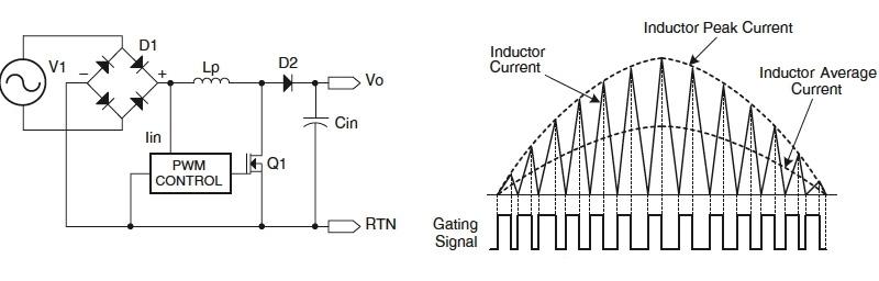 Электрическая схема и потребление тока блоком Active PFC