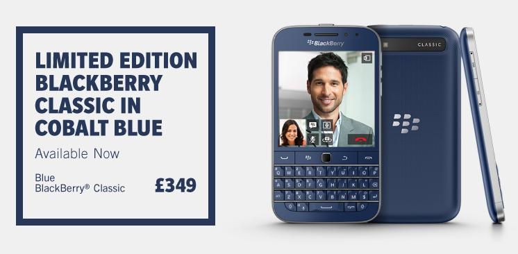 Смартфон BlackBerry Classic Cobalt Blue выйдет ограниченной серией
