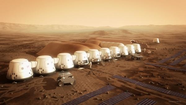Концепция марсианской колонии, которую поддерживала компания SpaceX
