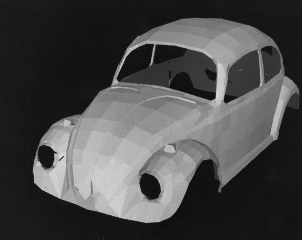 Визуализированный вариант автомобиля Сазерленда на основе полученного каркаса