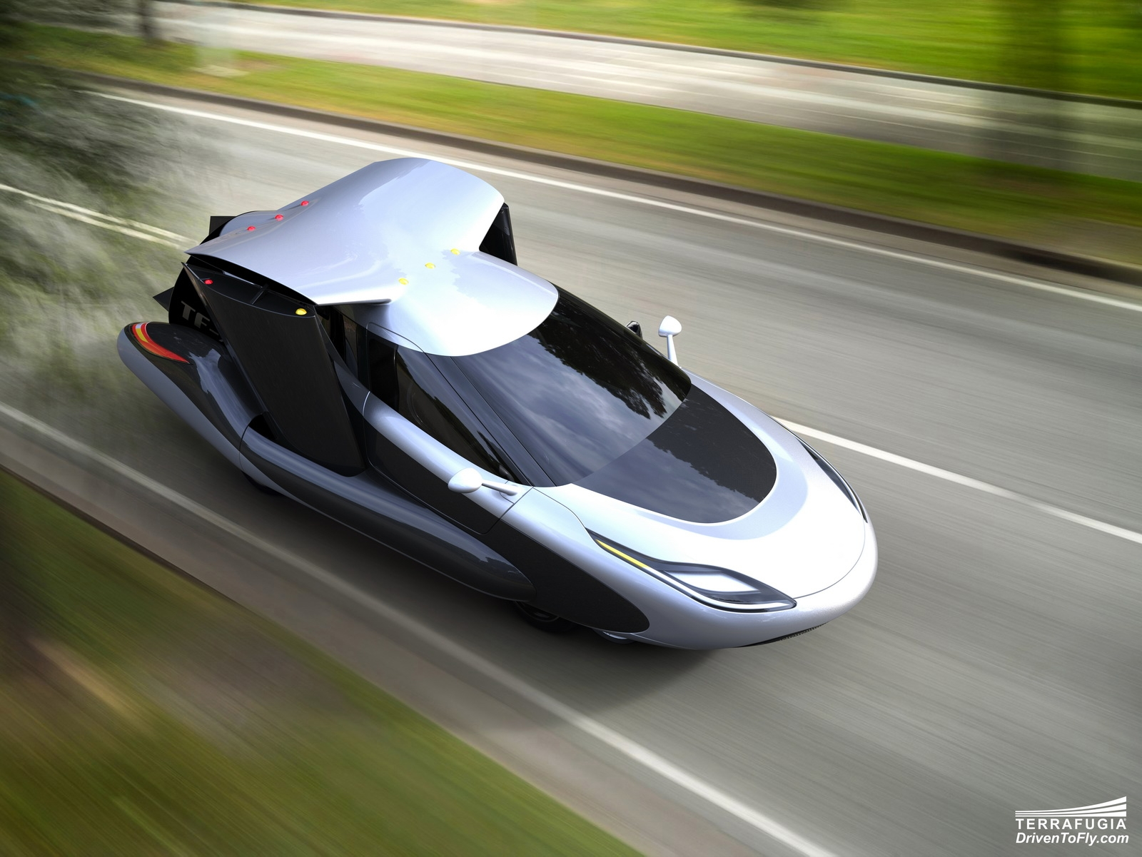 летающий автомобиль тесла видео