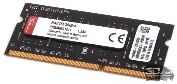 Модуль оперативной памяти DDR3-1600 Kingston HyperX HX316LS9IB/4