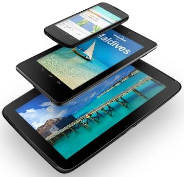 Nexus 4, Nexus 7, Nexus 10