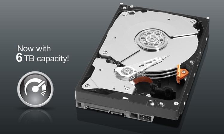 Western Digital выпустила жёсткий диск серии Black ёмкостью 6 Тбайт