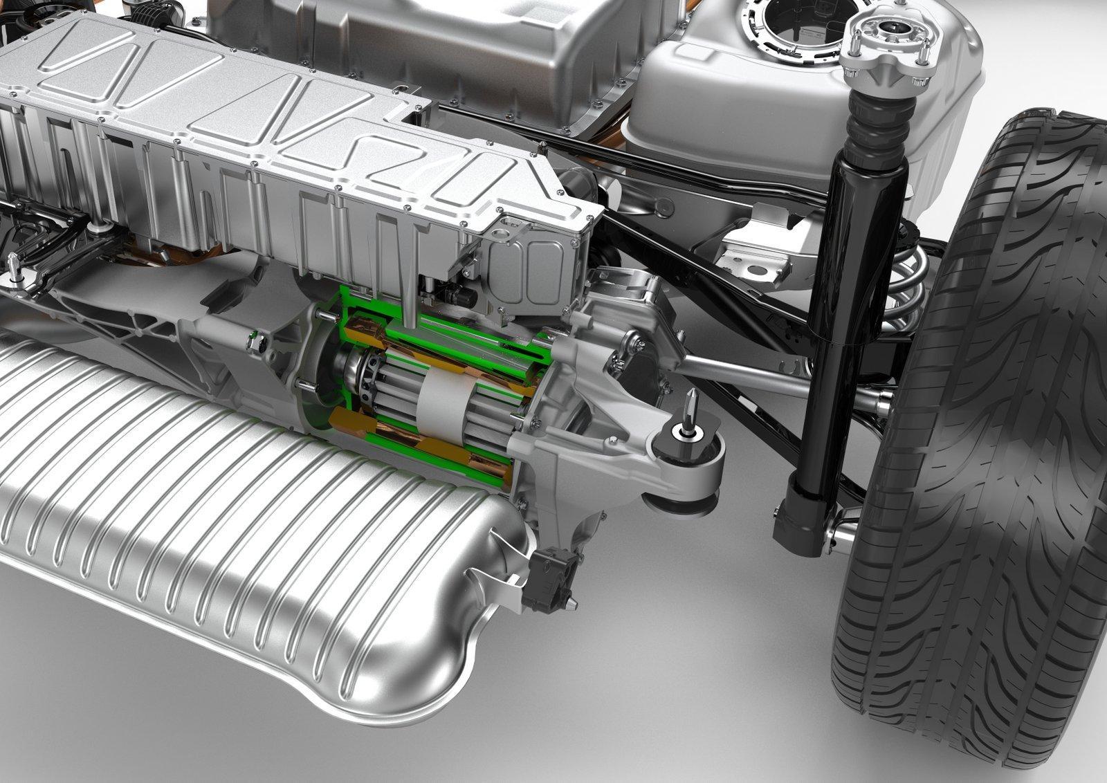 двигатель автомобиль tesla
