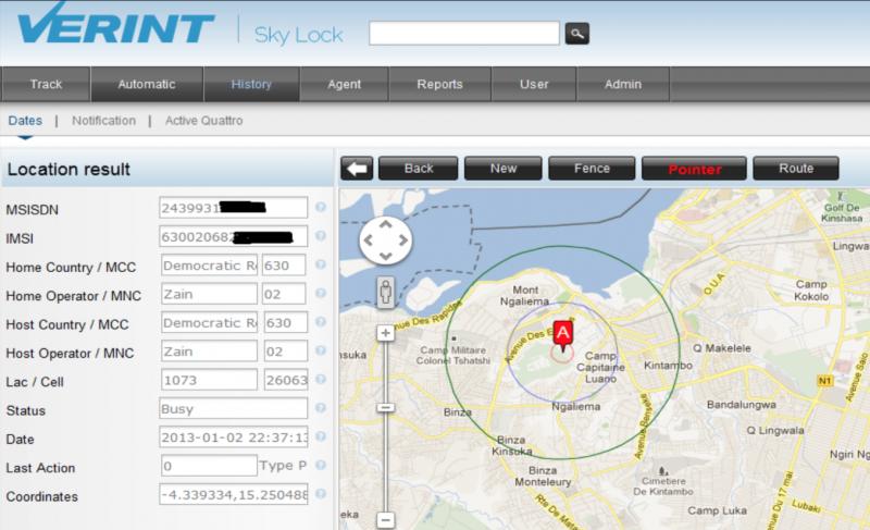 В сервисе SkyLock местоположение любого абонента указывается на карте: интерфейс понятен любому, весь взлом выполняет программа