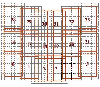 Мозаичная схема карты