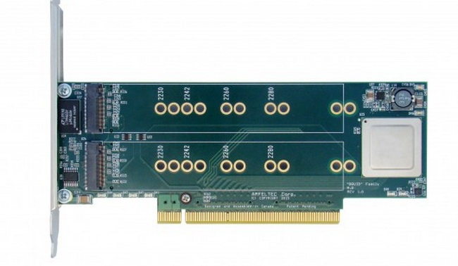 Amfeltec Squid PCI Express Carrier: до четырёх накопителей, до 6 Гбайт/с