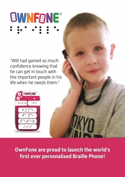 Первый в мире телефон с надписями на шрифте Брайля