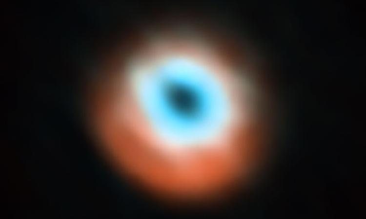 Изображение переходного диска звезды HD 135344B, полученное на ALMA