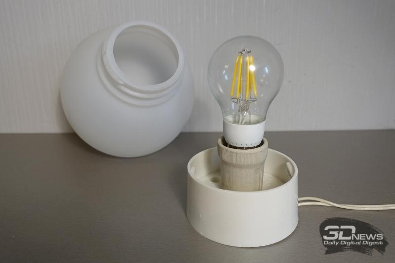 Светильник со снятым плафоном