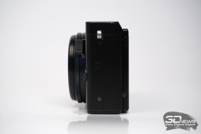 Fujifilm X70, левая грань