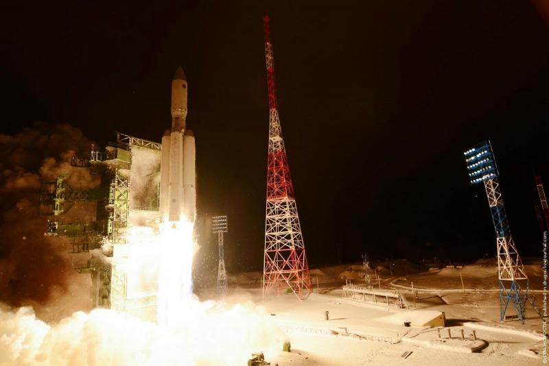 Первый пуск тяжёлой ракеты «Ангара А-5» состоялся в конце декабря 2014 года. Фото: © РИА НОВОСТИ/Пресс-служба МО РФ