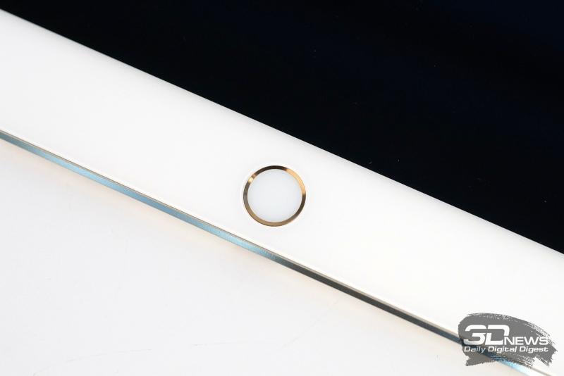 Apple iPad Pro 9,7, кнопка Home со встроенным сканером отпечатка пальца