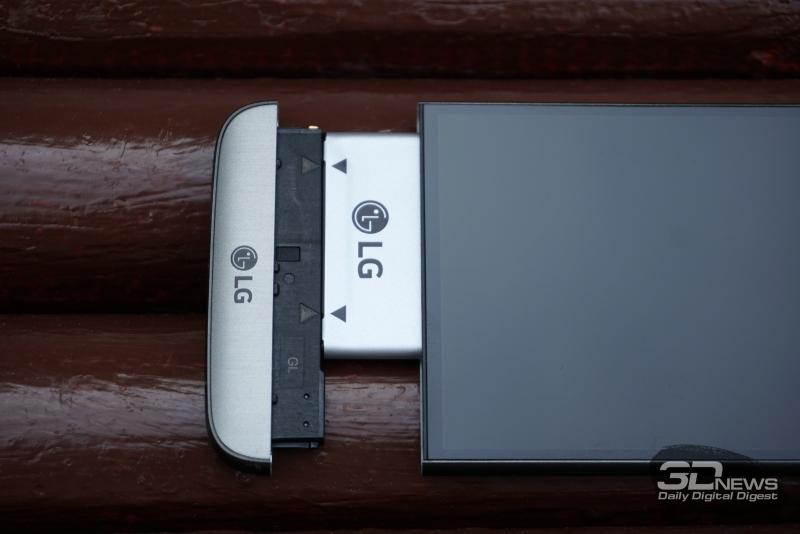 LG G5 se с отстегнутым модулем