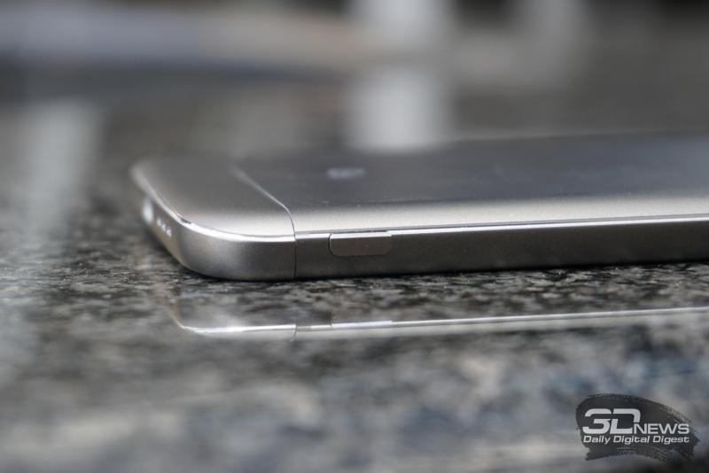 LG G5 se, кнопка разблокирования модуля