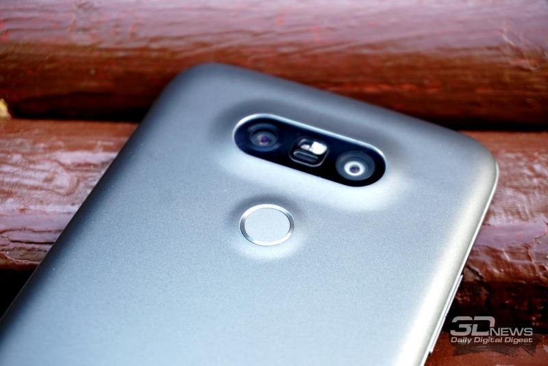 LG G5 se, сканер отпечатка пальца