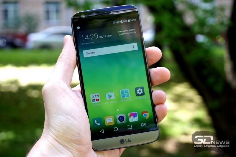 LG G5 se в руке