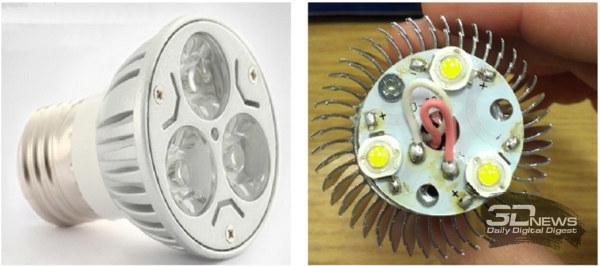 Светодиодные лампы на мощных светодиодах в корпусах