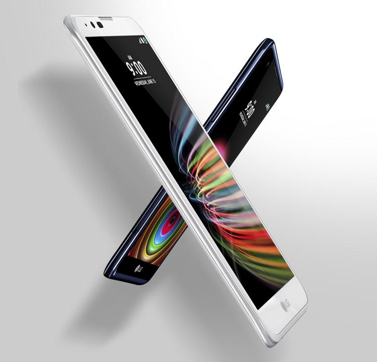 LG X mach (на переднем плане, в белом корпусе) и LG X mach (на заднем плане, в тёмном корпусе)