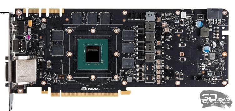 NVIDIA GeForce GTX 1070 со снятой системой охлаждения
