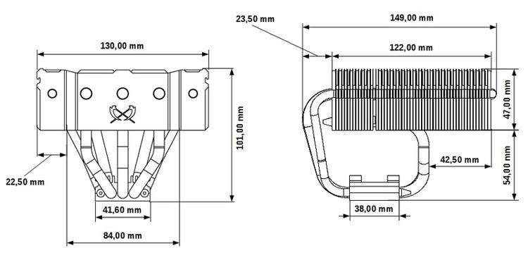 Кулер Scythe Kabuto 3 (схема)