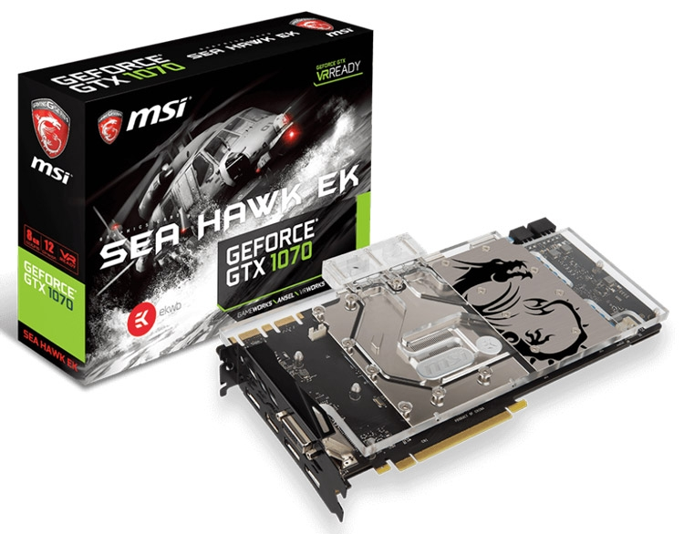 MSI GeForce GTX 1070 SEA HAWK EK X
