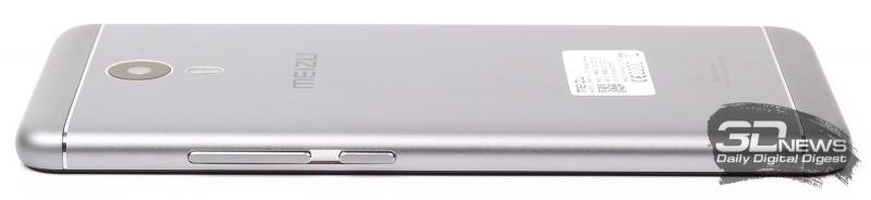 Meizu M3 Note – боковая сторона