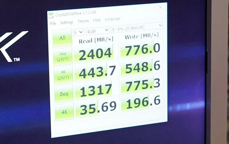 Испытания прототипа ёмкостью 500 Гбайт
