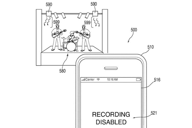 Технология может использоваться для запрета съёмки на концертах...