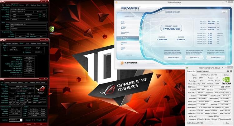 ROG Strix GeForce GTX 1080 SLI — Smoke, 12 и Slamms