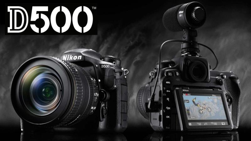Nikon D500, официальное фото