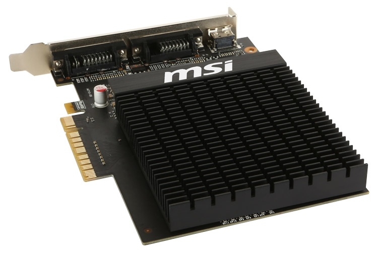 Видеокарта MSI GeForce GT 710 2GD3H H2D