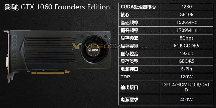 Видеокарта GALAX GeForce GTX 1060 Founders Edition