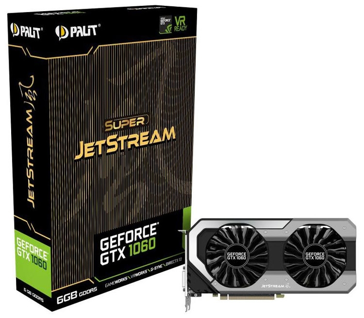 Видеокарта Palit GeForce GTX 1060 Super JetStream 6GB