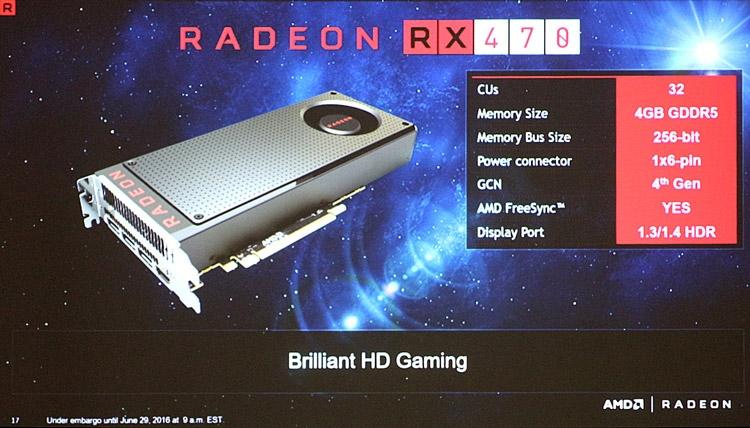 Видеокарта AMD Radeon RX 470