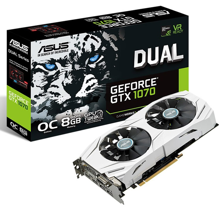 Видеокарта ASUS GeForce GTX 1070 Dual OC