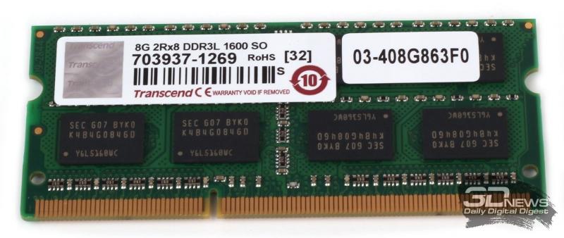 Модуль оперативной памяти Transcend DDR3L-1600