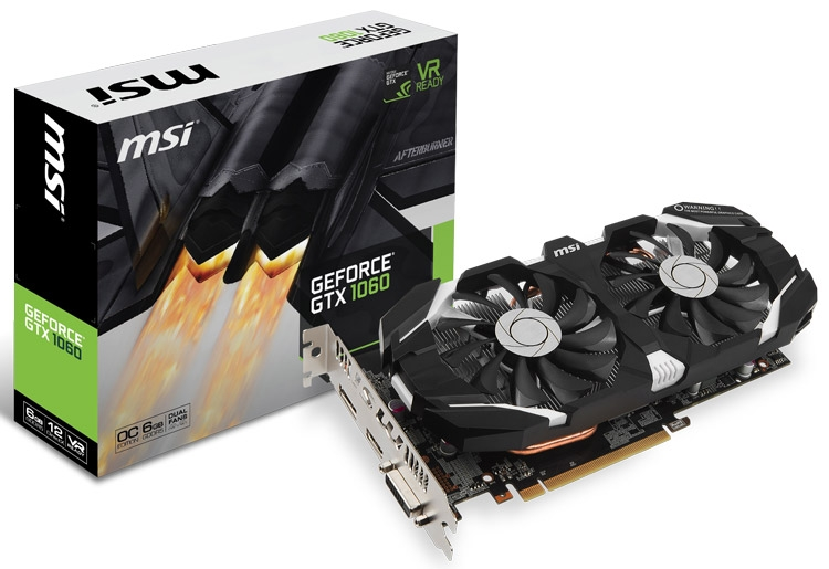 Видеокарта MSI GeForce GTX 1060 6GT OC