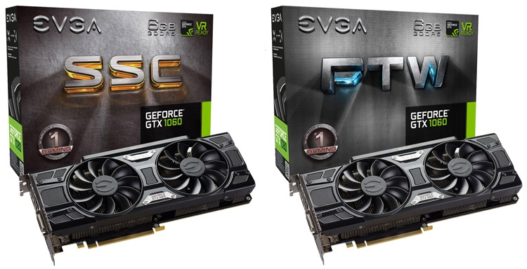 Видеокарта EVGA GeForce GTX 1060