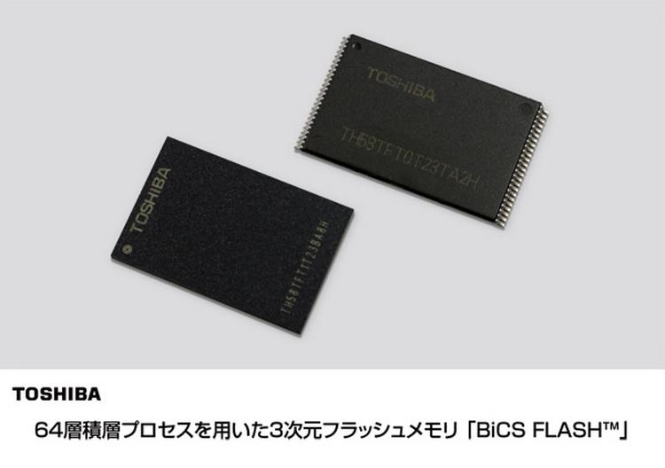 Первые чипы BiCS 3D NAND уже существуют в кремнии