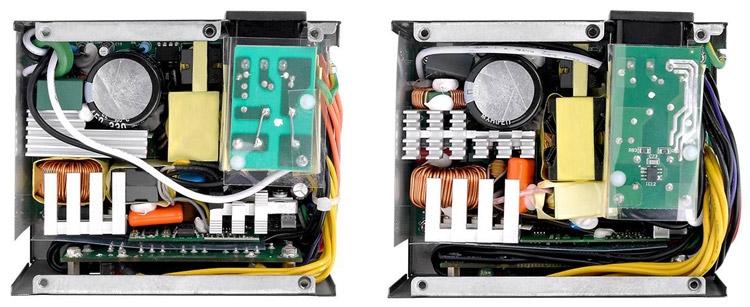 «Начинка» Toughpower SFX 450W Gold и 600W Gold (справа)